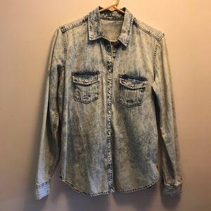 GAP 1969 Acid Wash Button Down Shirt